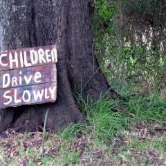 Children Drive Slowly